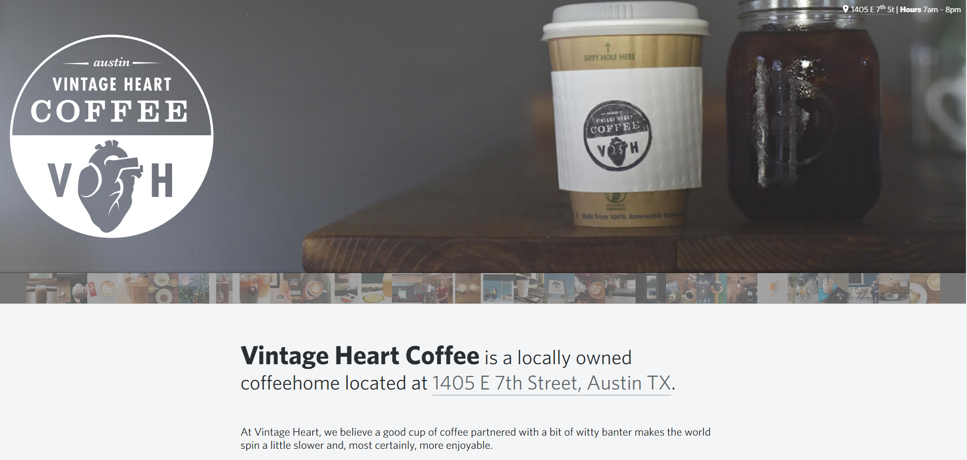 vintage heart coffee